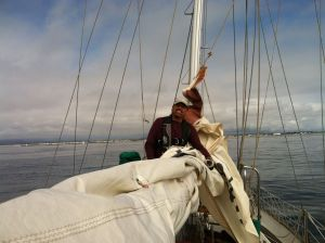 Our first sail!