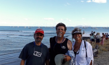 Happy sailors in Bahia Santa Maria
